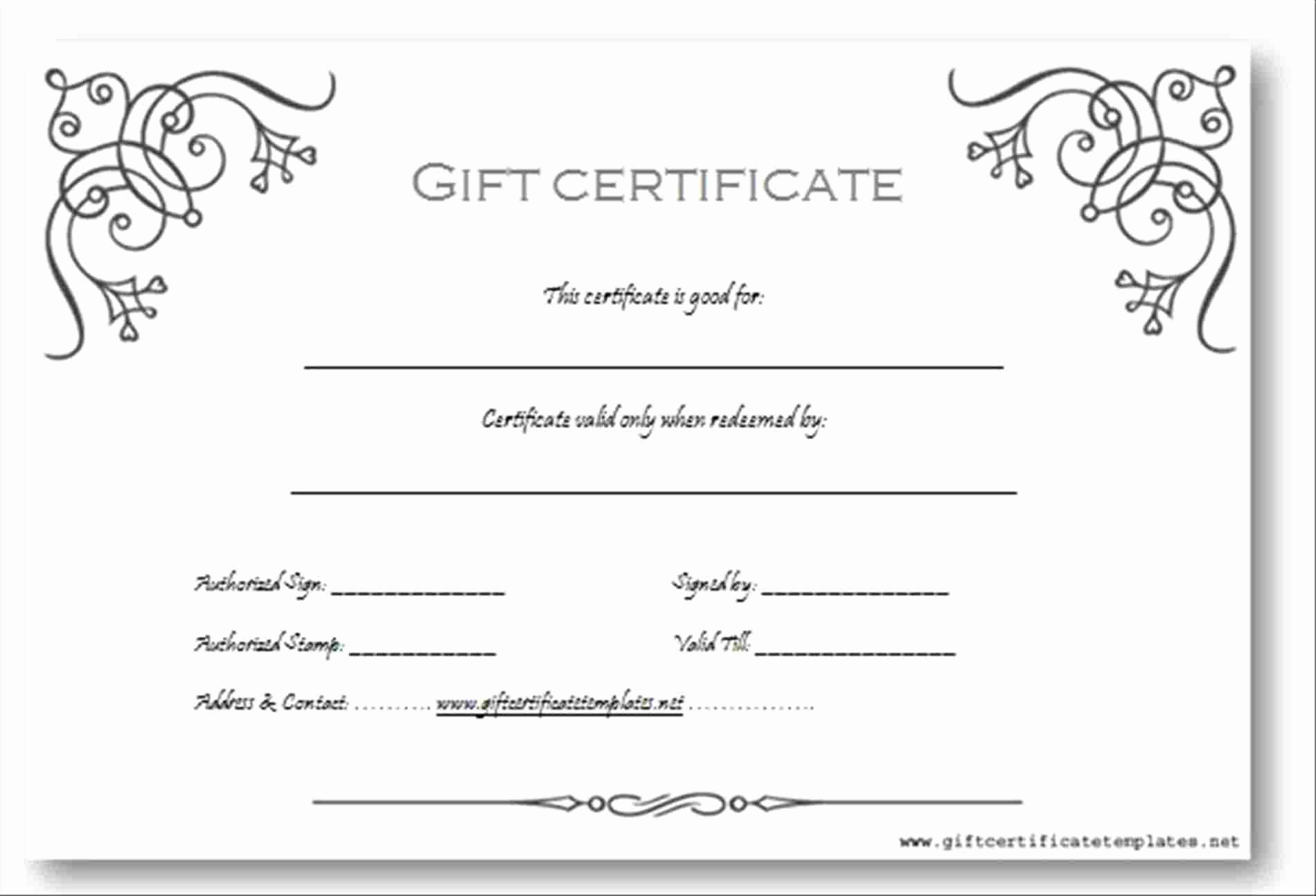 Free Gift Certificate Template Word New Gift Voucher Templates Word Pics – Travel Voucher T