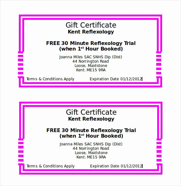 Free Gift Certificate Template Word Unique Gift Certificate Template 42 Examples In Pdf Word In