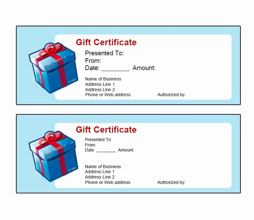 Free Gift Certificate Templates Awesome 40 Free Gift Certificate Templates Template Lab