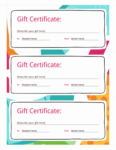 Free Gift Certificate Templates Awesome Gift Certificate Template Free Download Create Fill