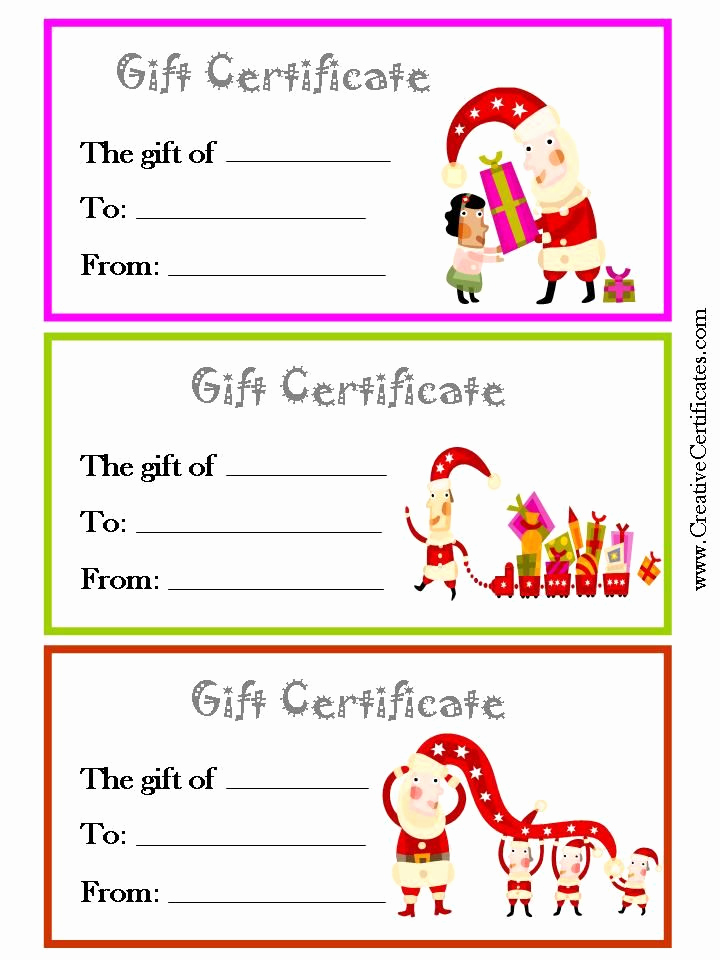 Free Gift Certificate Templates Fresh 3 Printable Christmas T Certificate Templates On One