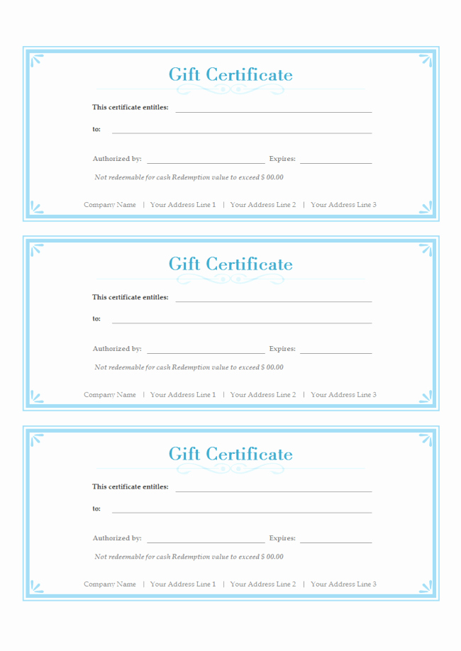 Free Gift Certificate Templates Fresh Simple Gift Certificate