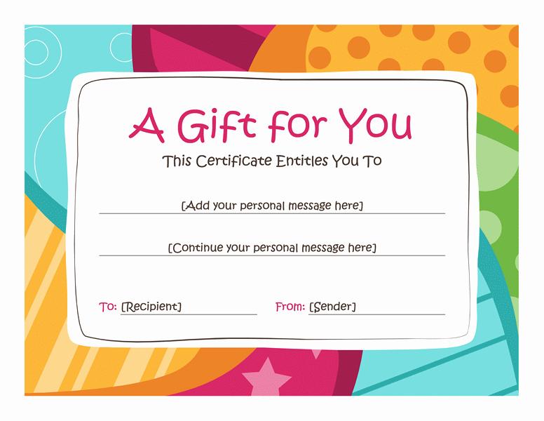 Free Gift Certificate Templates Unique Birthday T Certificate Template