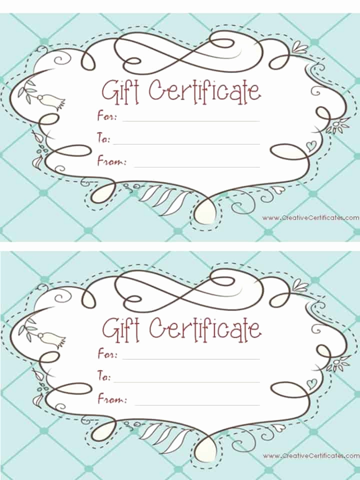 Free Gift Certificate Templates Unique Free Gift Certificate Template