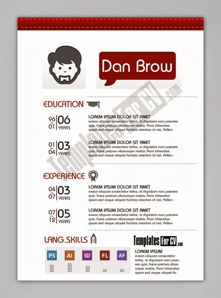 Free Graphic Design Templates Elegant Contoh Cv format Word Free Template Cv Kreatif 30