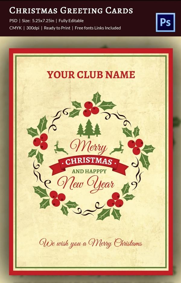 Free Greeting Card Templates Beautiful 120 Christmas Greeting Card Templates Free Psd Eps Ai