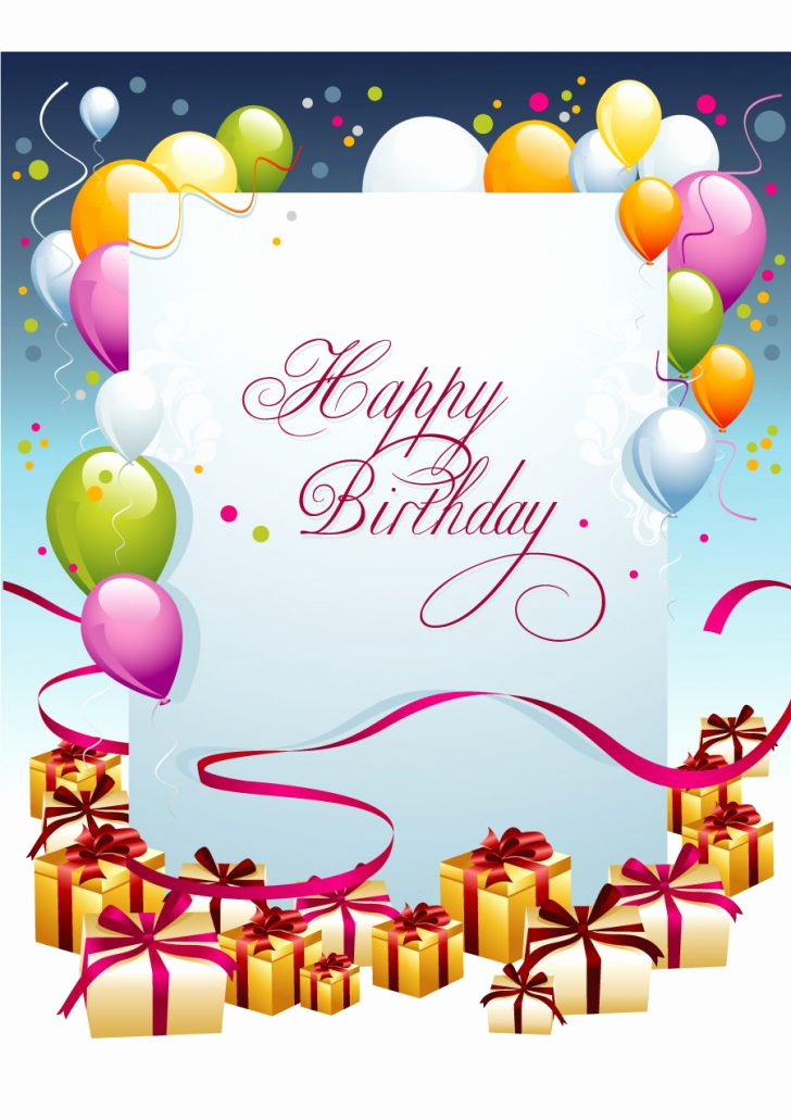Free Greeting Card Templates Beautiful Happy Birthday Template Free for after Effects Girl