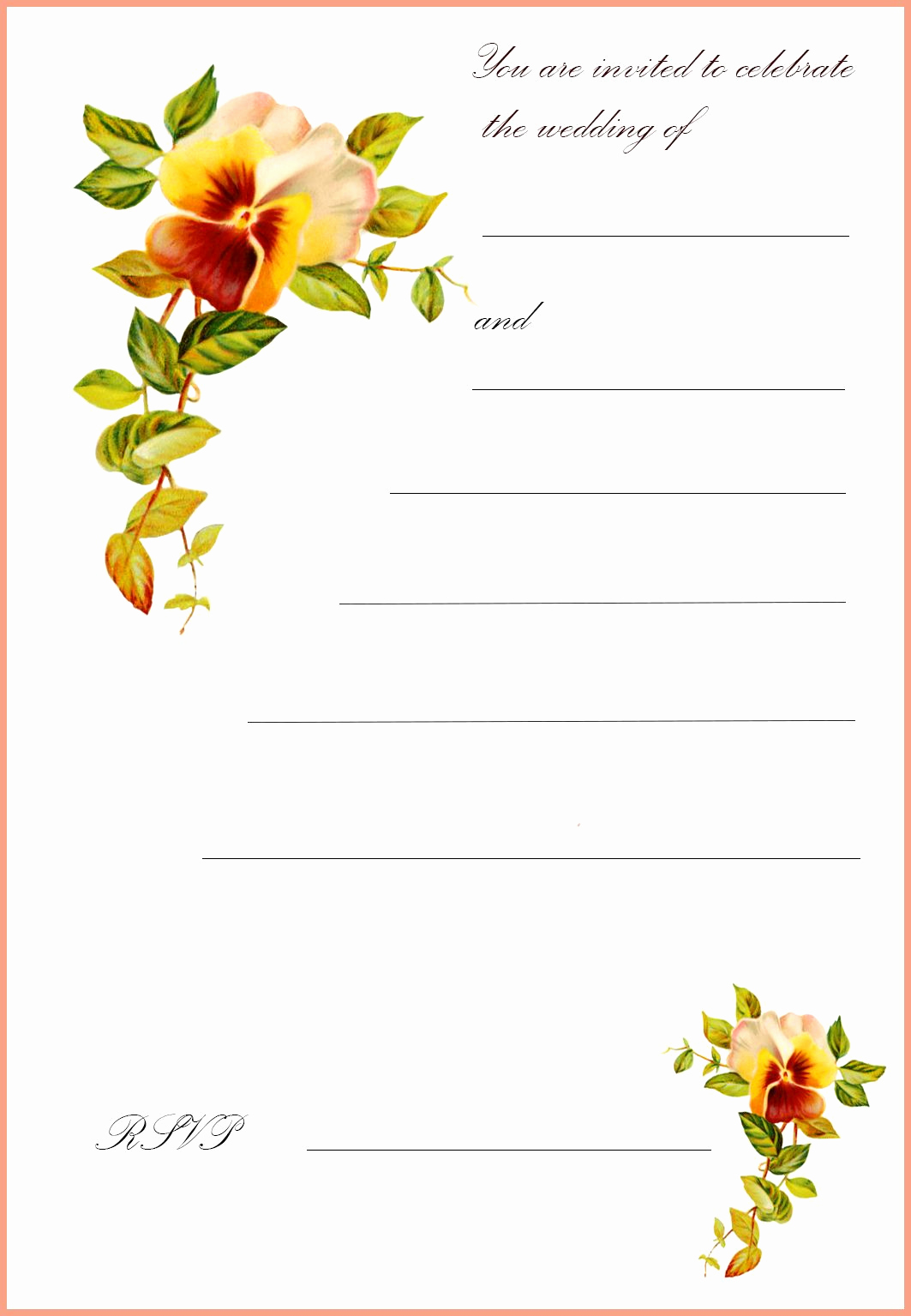 Free Greeting Card Templates Lovely Free Printable Wedding Clip Art
