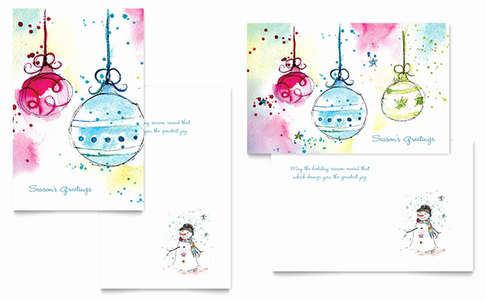 Free Greeting Card Templates Lovely Whimsical ornaments Greeting Card Template Design