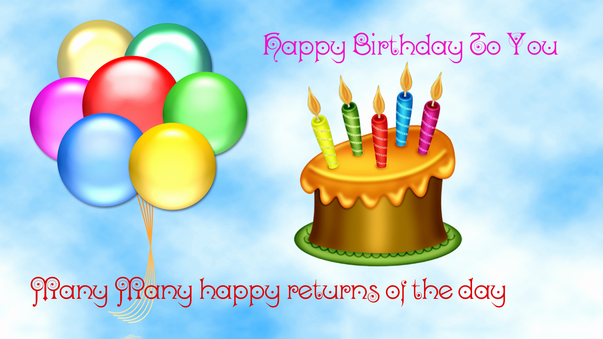 Free Happy Birthday Picture Awesome Happy Birthday Flowers and Balloons Pictures