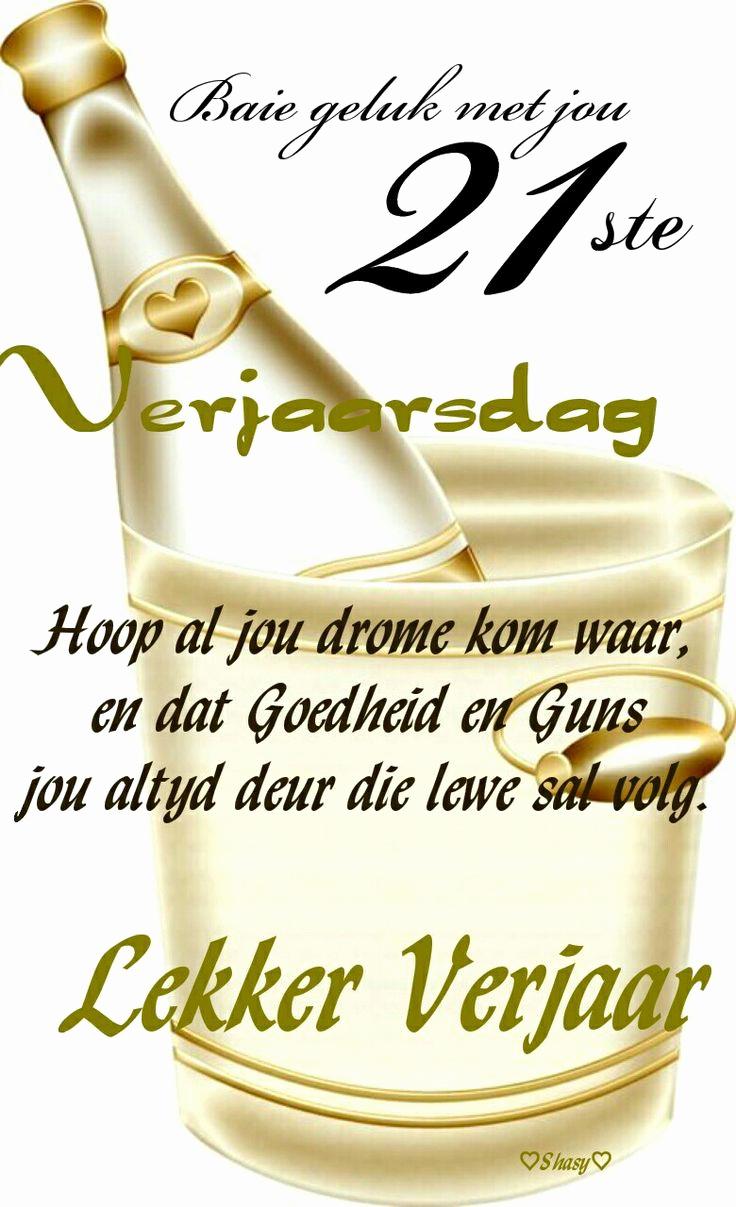 Free Happy Birthday Picture Inspirational 21 Ste Verjaarsdag