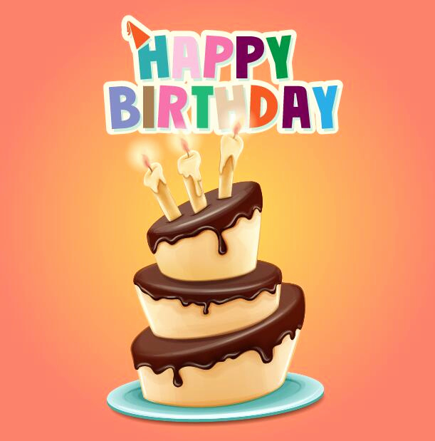Free Happy Birthday Picture Inspirational Happy Birthday Cards with Cake Vector 05 Free