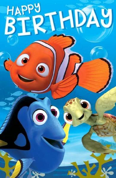 Free Happy Birthday Picture Unique Finding Nemo Birthday Card