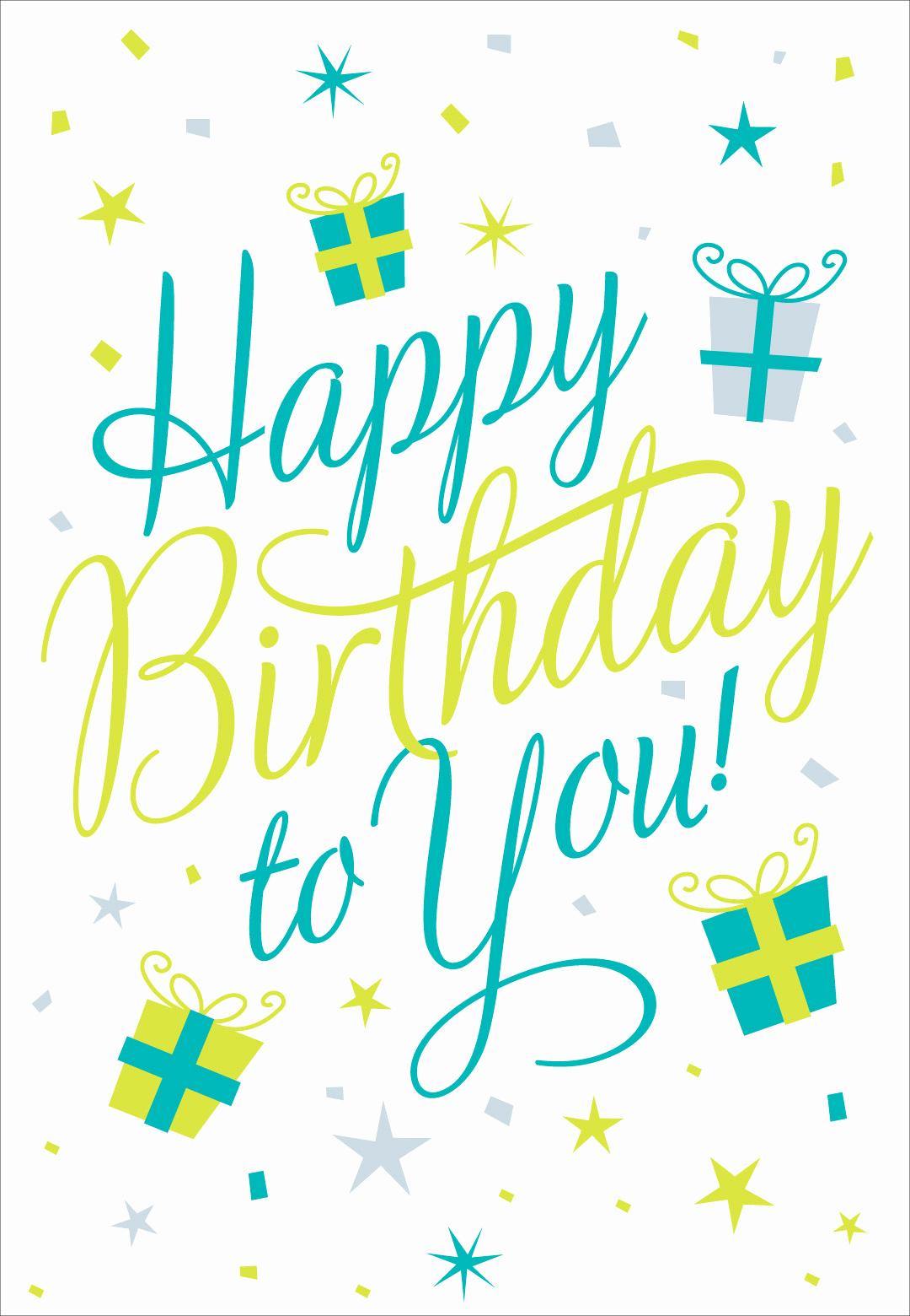 Free Happy Birthday Picture Unique Happy Birthday to You Birthday Card Free