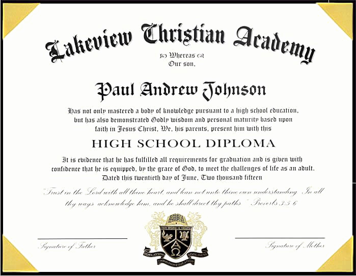 Free High School Diploma Templates Awesome 25 High School Diploma Template 2019 Free Doc