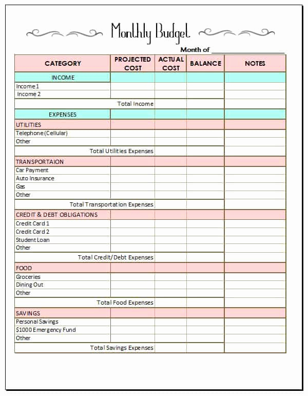 Free Household Budget Template Luxury 10 Bud Templates that Will Help You Stop Stressing