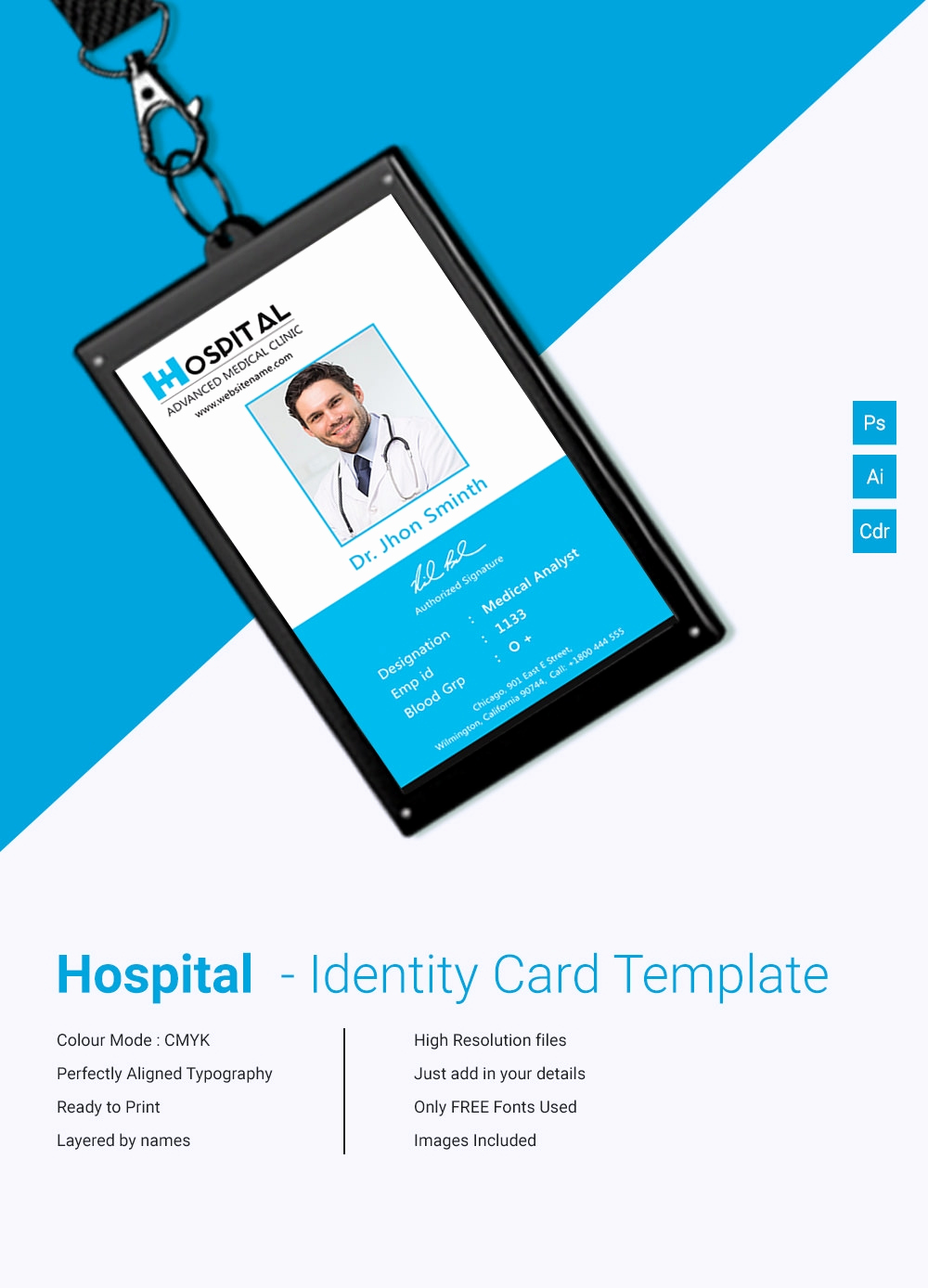 Free Id Card Template Beautiful 18 Id Card Templates – Free Psd Documents Download