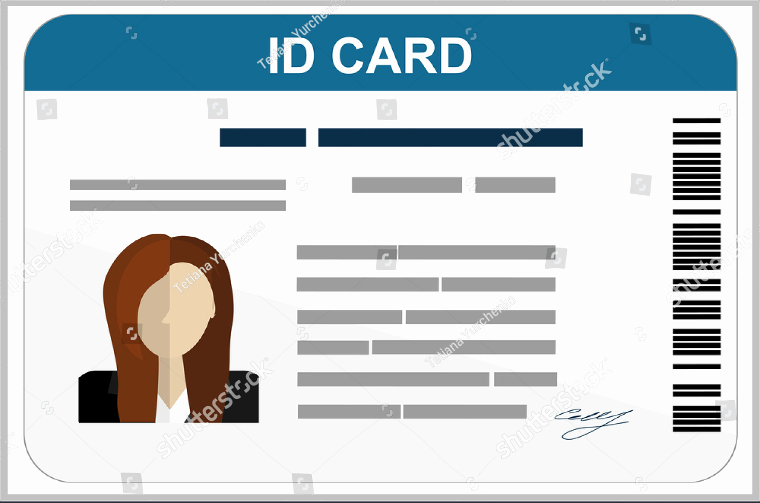 Free Id Card Template Beautiful 43 Professional Id Card Designs Psd Eps Ai Word
