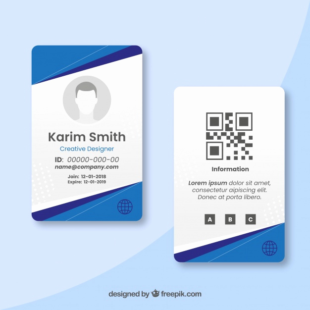 Free Id Card Template Elegant Membership Card Vectors S and Psd Files