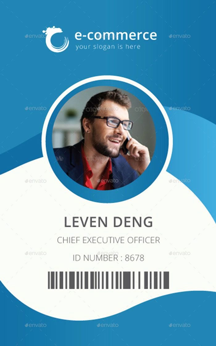 Free Id Card Template Elegant Template for Identification Card Id Badge