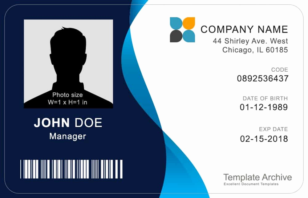 Free Id Card Template Inspirational 16 Id Badge & Id Card Templates Free Template Archive