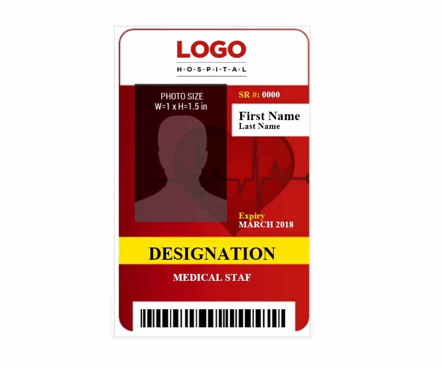 Free Id Card Template Inspirational 50 Id Badge & Id Card Templates Free Template Archive