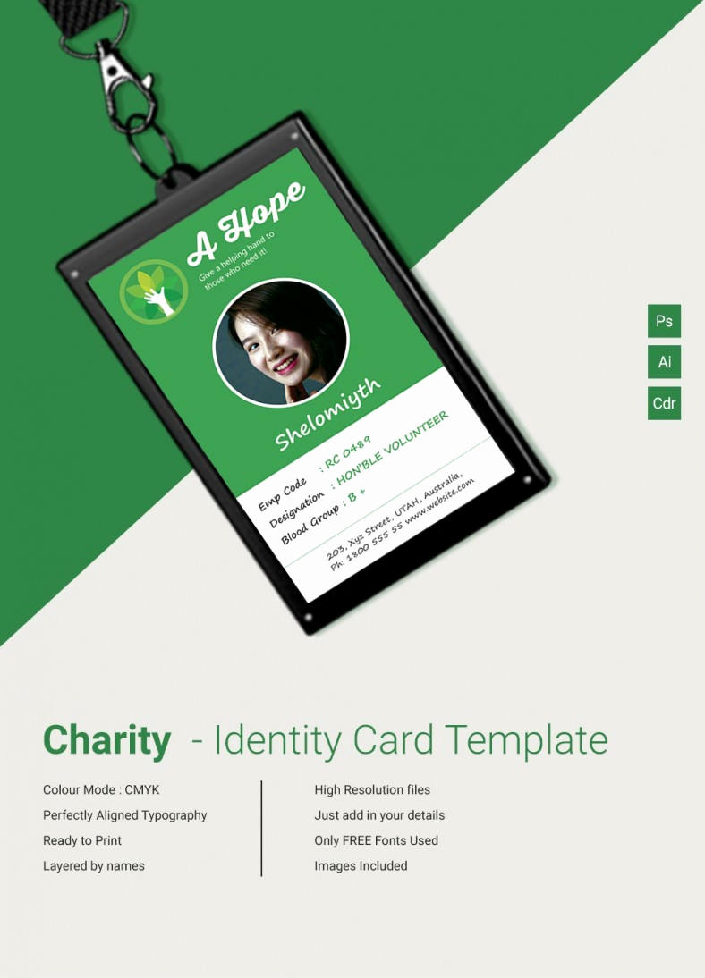 Free Id Card Template Inspirational Beautiful Charity Identity Card Template