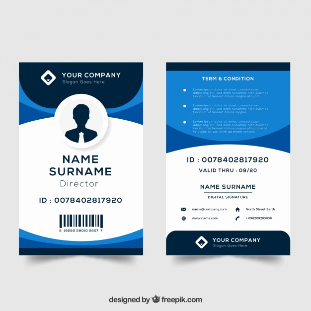 Free Id Card Template Inspirational Id Card Template Vector