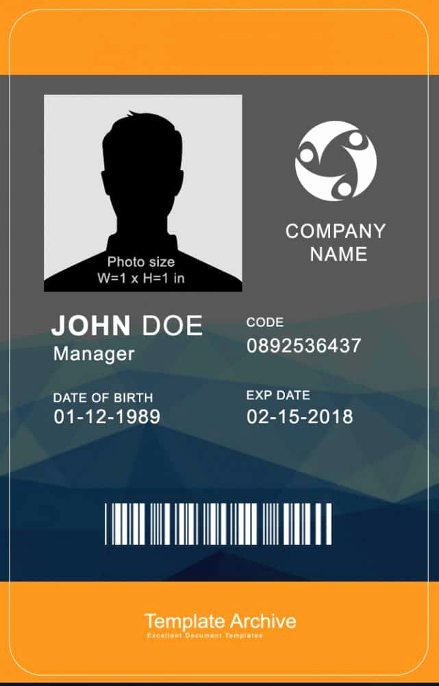Free Id Card Template Lovely 16 Id Badge & Id Card Templates Free Template Archive