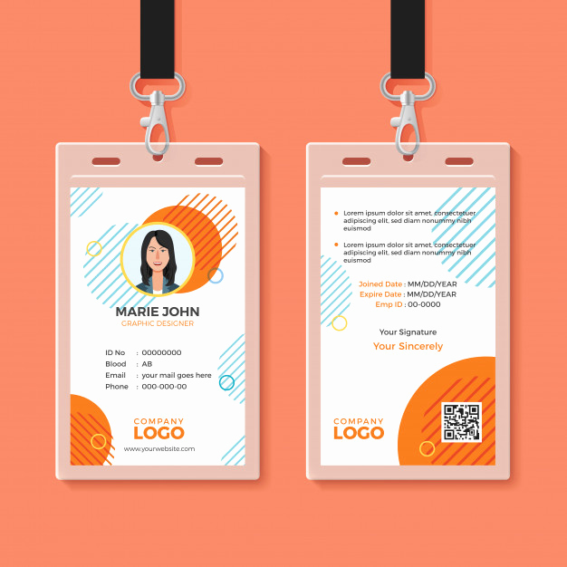Free Id Card Template Lovely Multipurpose Office Id Card Template Vector