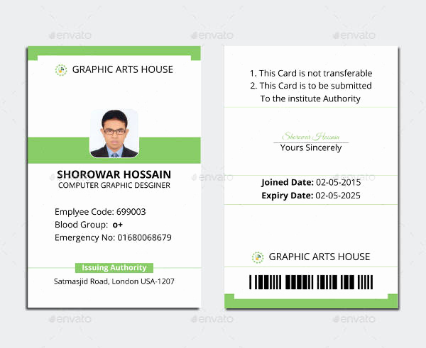 Free Id Card Template New 38 Id Card Templates Psd Eps Png