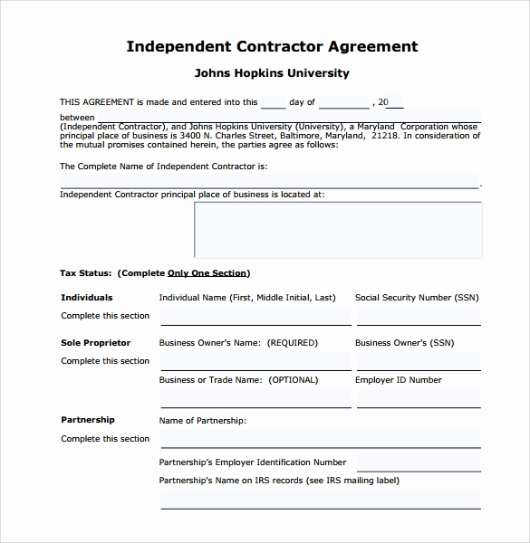 Free Independent Contractor Agreement Elegant Sample Independent Contractor Agreement 22 Documents