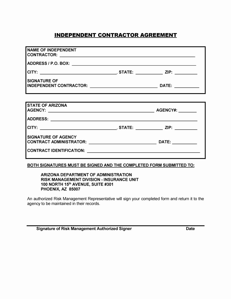 Free Independent Contractor Agreement Fresh 50 Free Independent Contractor Agreement forms & Templates