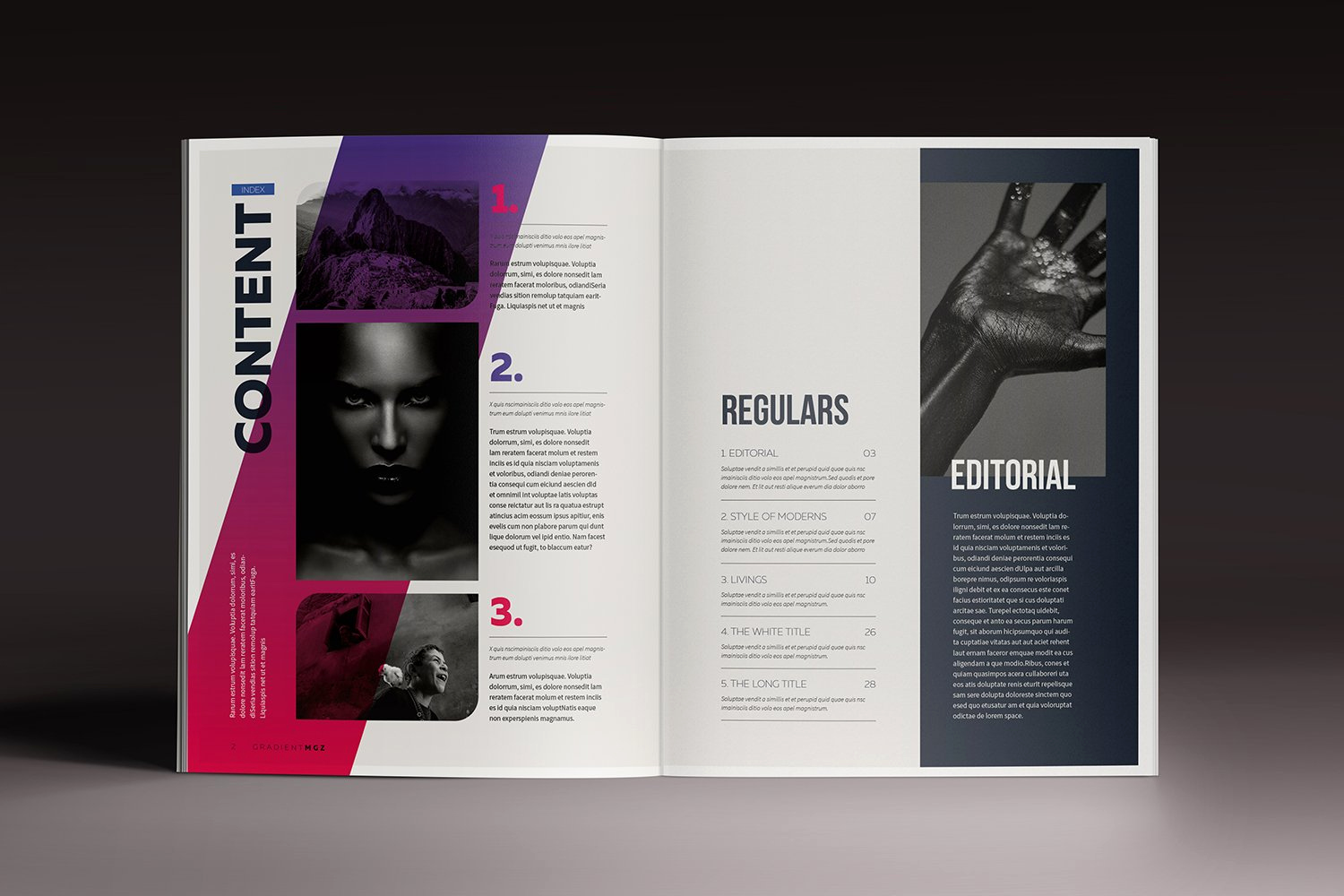 Free Indesign Brochure Templates Inspirational Gra Nt Magazine Indesign Template Magazine Templates