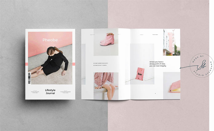Free Indesign Magazine Templates Awesome Phoebe Adobe Indesign Magazine Template