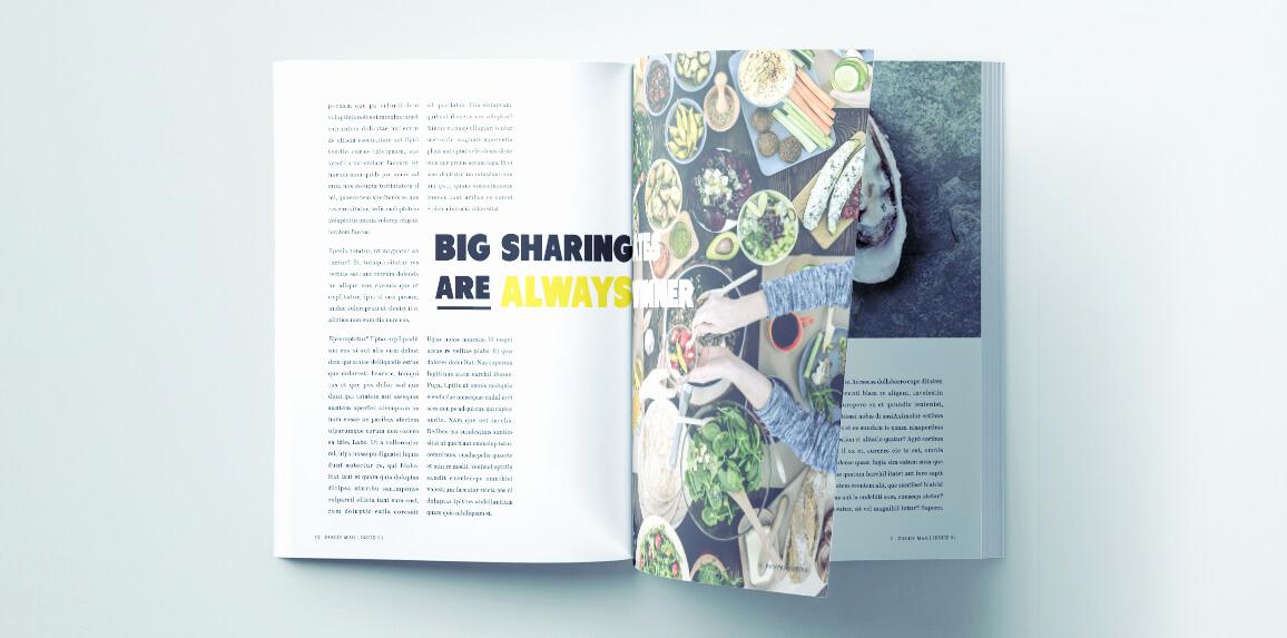 Free Indesign Magazine Templates Beautiful Stylish Food Magazine Template for Indesign