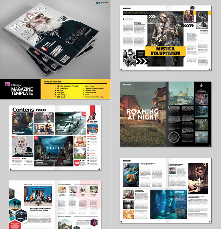 Free Indesign Magazine Templates Elegant 20 Magazine Templates with Creative Print Layout Designs