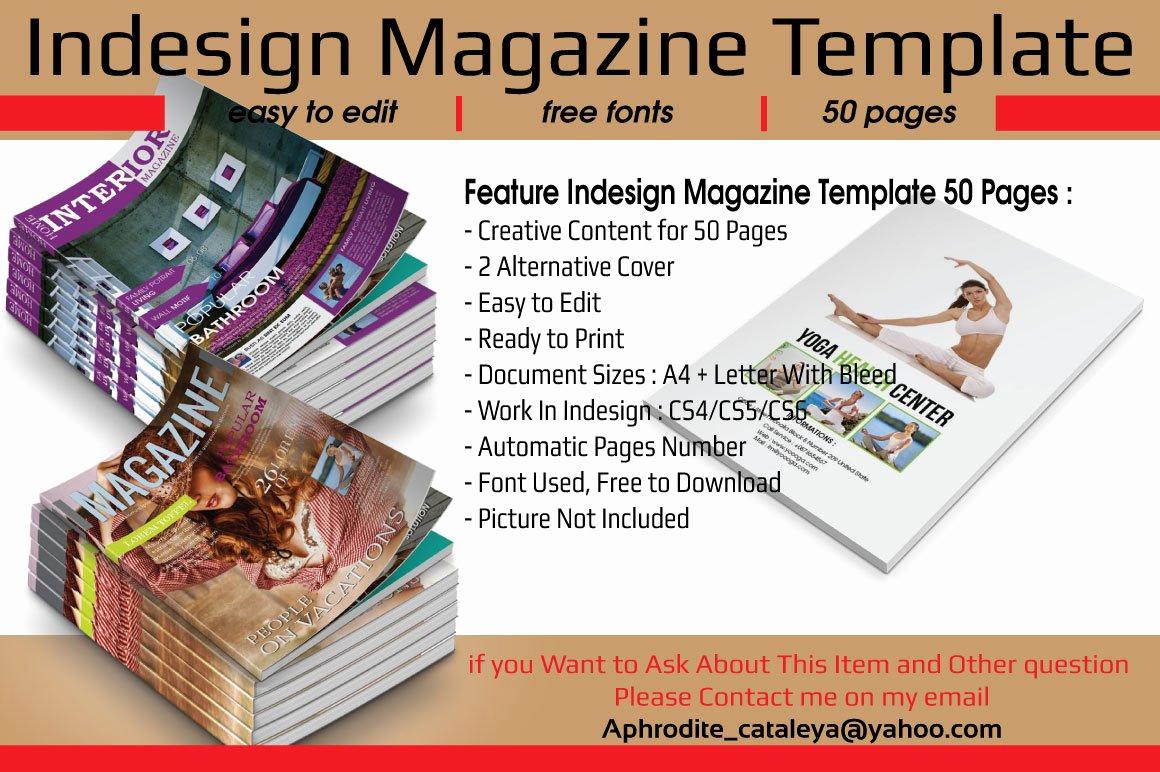 Free Indesign Magazine Templates Inspirational Indesign Magazine Template 50 Pages Magazine Templates
