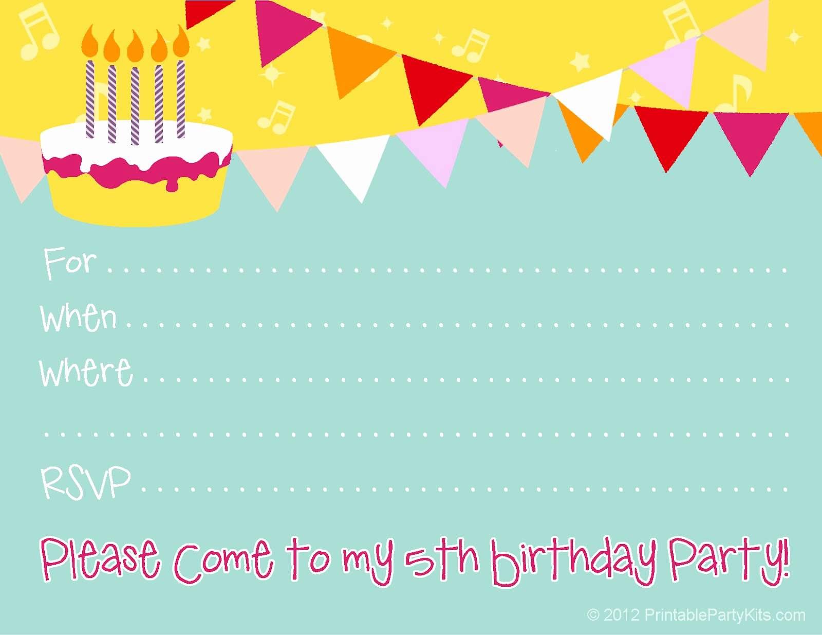 Free Invitation Template Printable Awesome Free Birthday Party Invitations for Girl – Free Printable