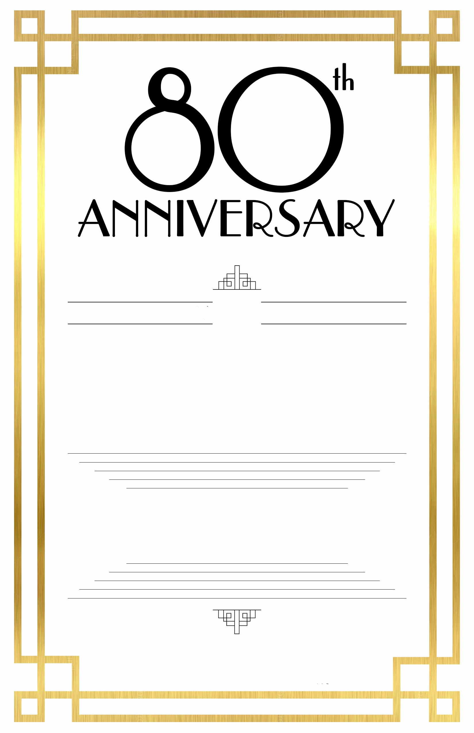 Free Invitation Template Printable Awesome Free Printable 80th Birthday Invitations – Free Printable