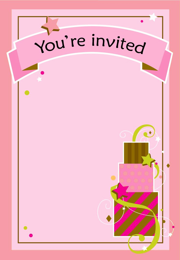 Free Invitation Template Printable Awesome Free Printable Girl Fun Birthday Invitation
