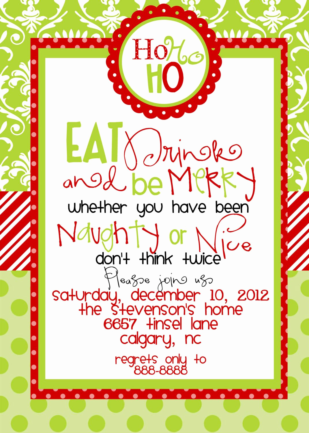 Free Invitation Template Printable Beautiful Christmas Party Invitations Templates Free Printables