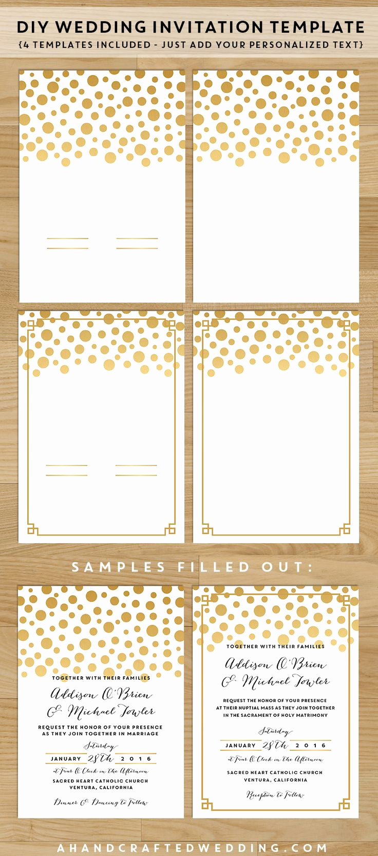Free Invitation Template Printable Best Of Diy Wedding Invitation Set Save Money On Your Wedding
