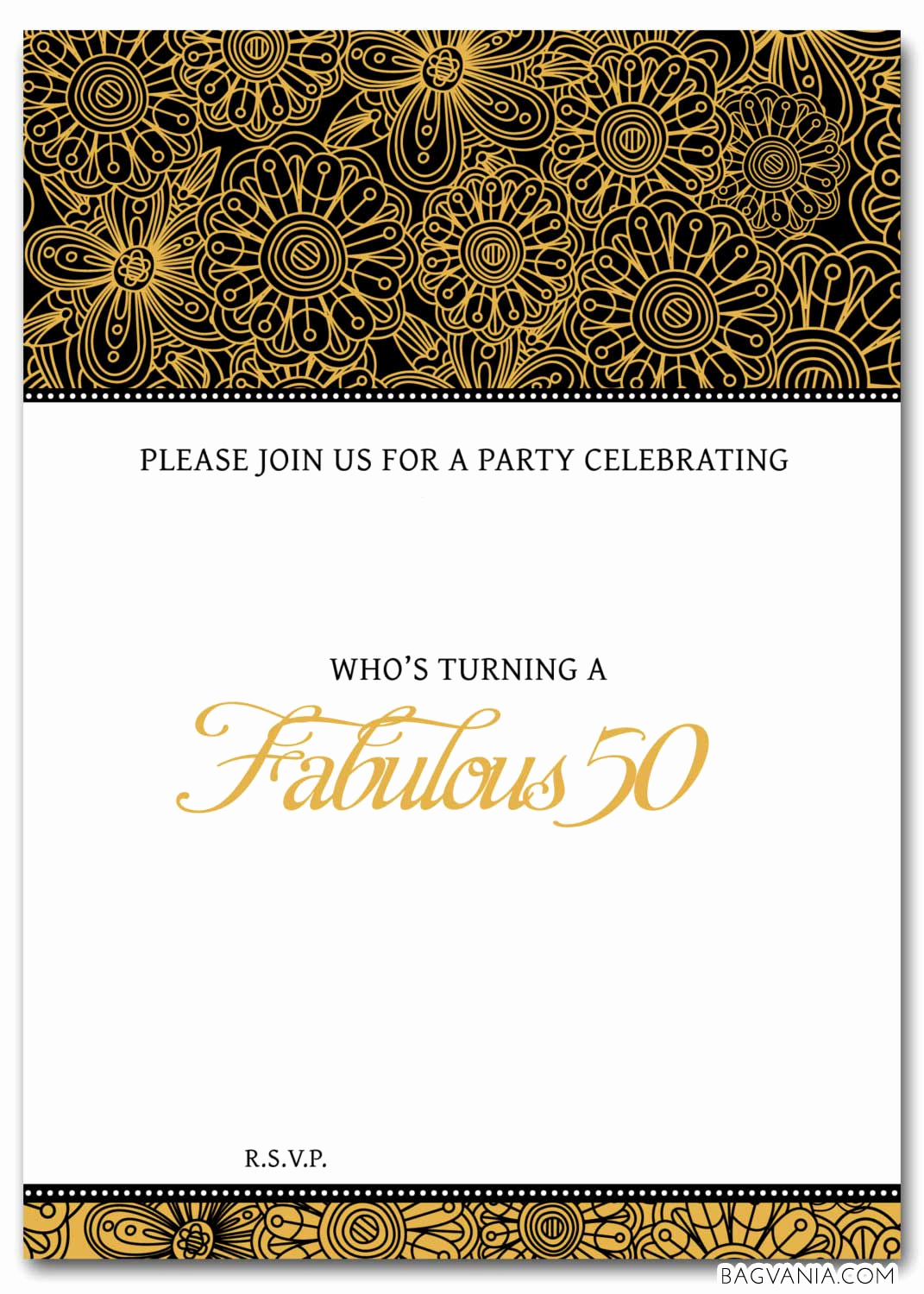 Free Invitation Template Printable Elegant Free 50th Birthday Party Invitations Wording – Free