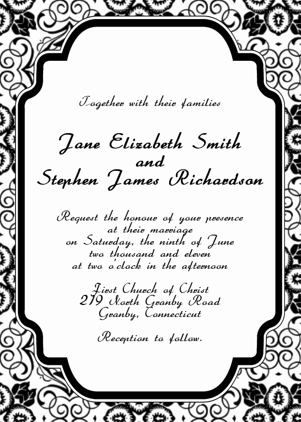 Free Invitation Template Printable Inspirational Free Printable Wedding Invitation Templates