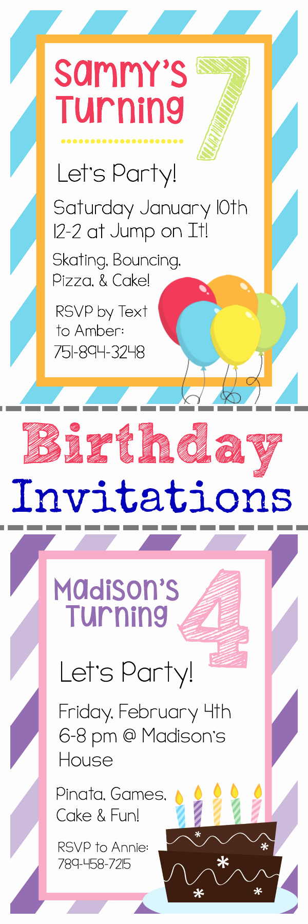 Free Invitation Template Printable Lovely Free Printable Birthday Invitation Templates