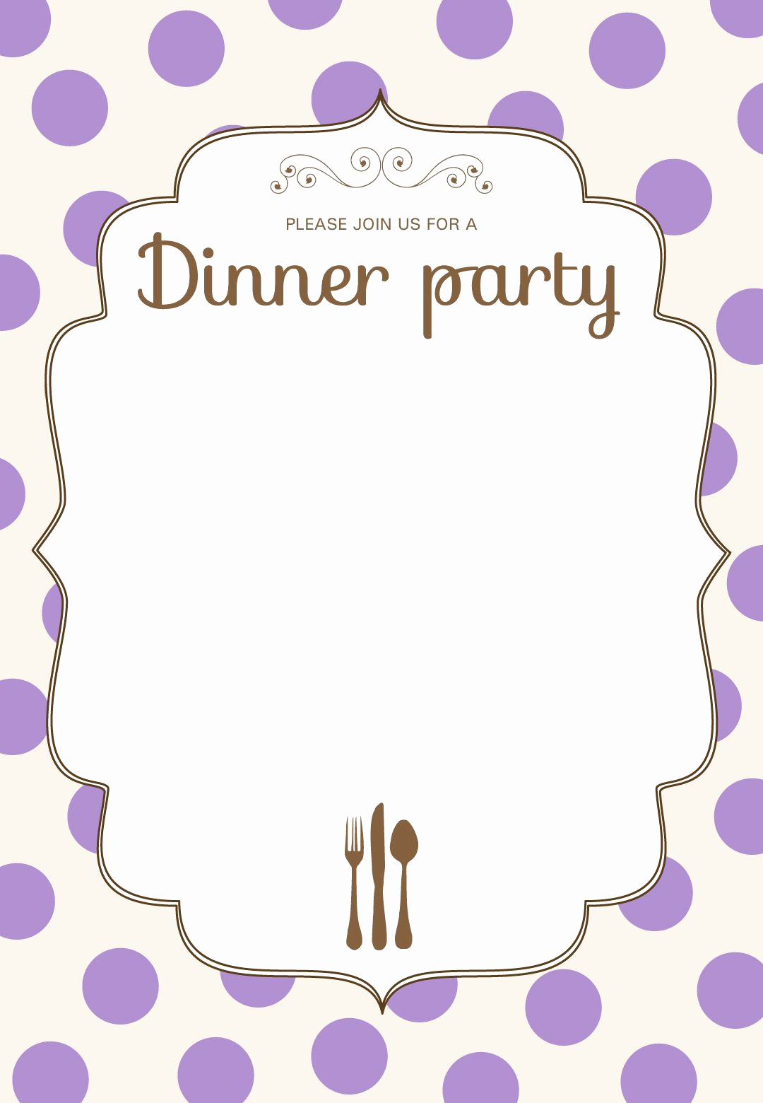 Free Invitation Template Printable Luxury Free Printable Classic Dinner Party Invitation