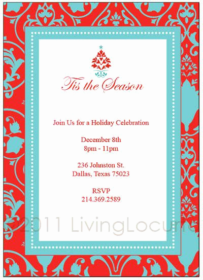 Free Invitation Templates for Word Beautiful Christmas Party Printable Invitation Templates Free