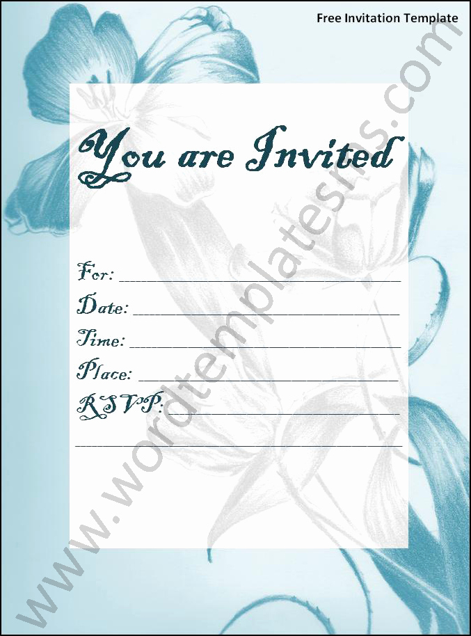 Free Invitation Templates for Word Fresh Invitation Template Word