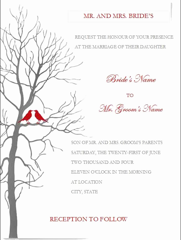 Free Invitation Templates for Word Luxury Free Wedding Invitation Templates for Microsoft Word